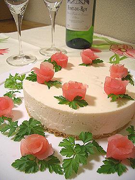 アップル♡レアチーズケーキ
