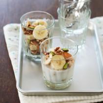 バナナとナッツのココナッツミルク