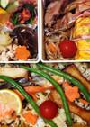 水炊きと☆焼き鮭*高菜チャーハンのお弁当