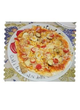 具だくさん♪簡単 ミックスピザ