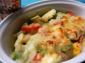 アボカド・トマト・たまごのチーズ焼き