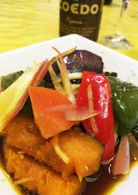 カボチャがおいしい♡夏野菜の揚げ浸し
