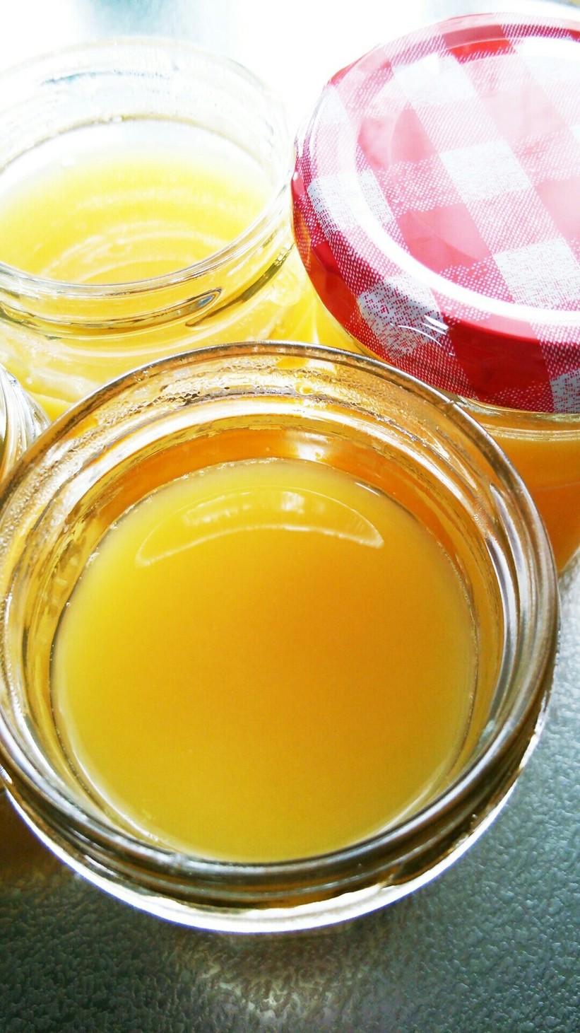 ジュースで簡単おやつ☆オレンジ寒天