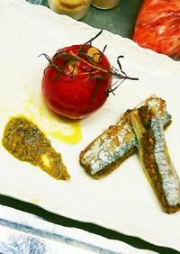 香り茸を詰めた太刀魚のとろける炙り焼き