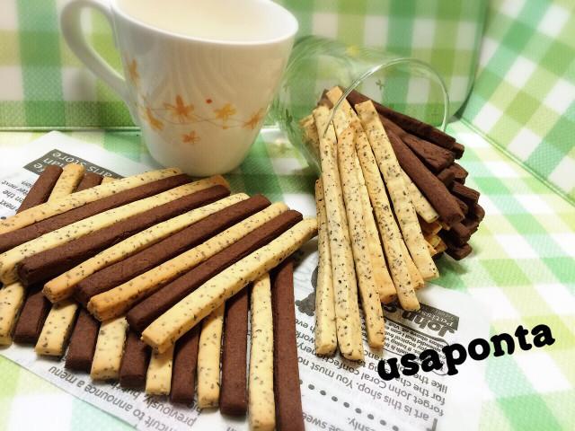 紅茶とココアのスティッククッキー♡