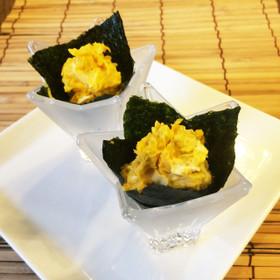 海苔カップDEかぼちゃサラダ