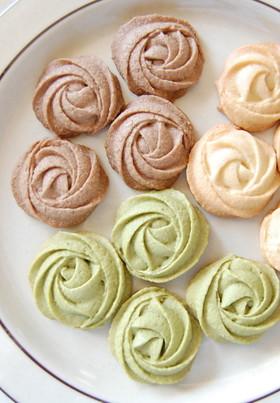 バター不使用♪簡単キレイ絞り出しクッキー
