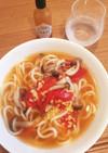 即席トマトスープうどん