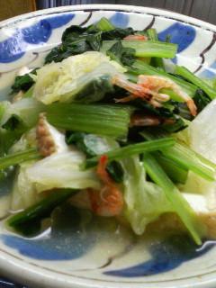 栄養満点☆小松菜と厚揚げの煮びたし
