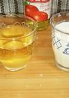 リンゴ酢ドリンクとリンゴ酢ミルク