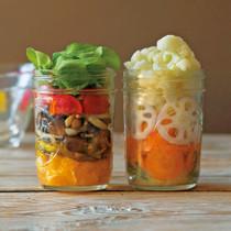 焼ききのこサラダ(写真左)