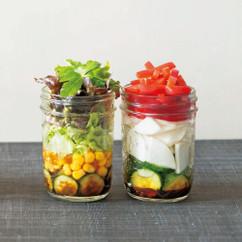 のりドレッシングサラダ(写真左)