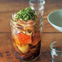 揚げなすと鮭の南蛮漬けサラダ