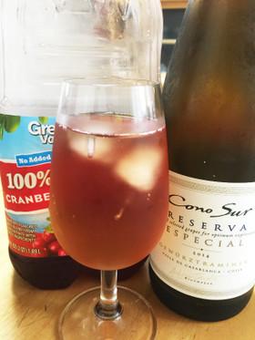 白ワインとクランベリーのカクテル