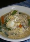 残ったスープで作った卵雑炊