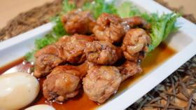 鶏手羽元の赤ワイン酢煮込み