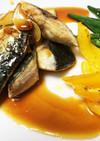 鯖の竜田焼きにんにく醤油ダレ