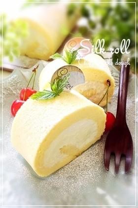 シフォン生地deシルクロールケーキ