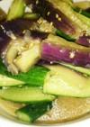 茄子と胡瓜の味噌ナムル