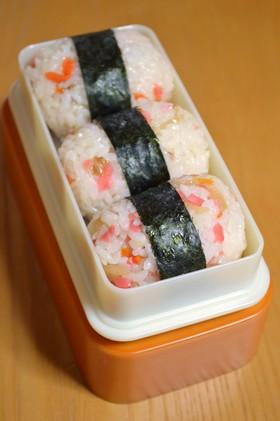 アレンジおにぎり『ちらし寿司in紅生姜』