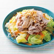 野菜たっぷりの中華風豚しゃぶ
