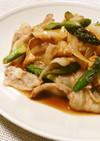 ご飯がすすむアスパラと豚肉のピリ辛炒め