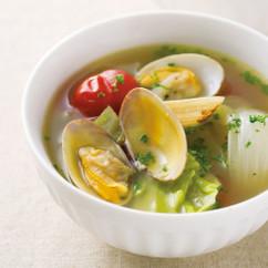 あさりとキャベツのおかずスープ