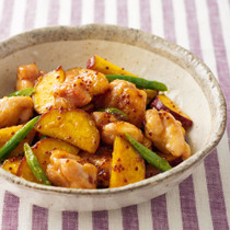 鶏肉とさつまいものハニーマスタード煮