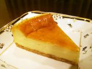 NZ産チーズのベイクドチーズケーキの写真