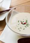 焼きヨーグルトのホエーで簡単冷製スープ。