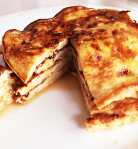 簡単!グルテンフリーのバナナパンケーキ。