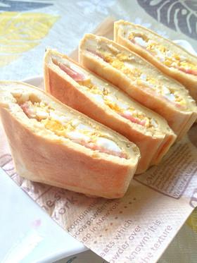 おいしい糖質オフ☆高野豆腐でホットサンド