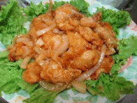 太刀魚のチリソース炒め