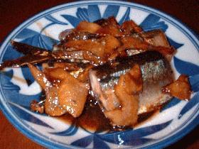 サンマの生姜いっぱい煮