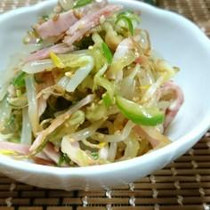 簡単副菜☆もやし胡瓜ハムのサラダ?和え物