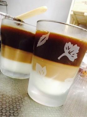 父の日に♡3層オシャレなコーヒーゼリー