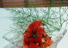 トマトのバジルソースあえ