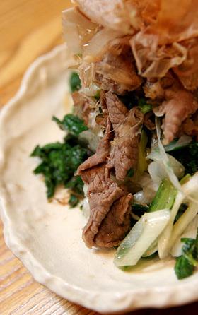 菊菜と牛肉の炒め物