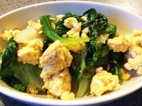レタス大量消費!卵と炒めるだけ♫
