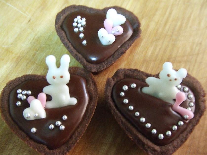 簡単!かわいい♡プチチョコタルト