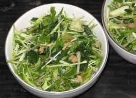 水菜しゃきしゃき♪ほうれん草サラダ