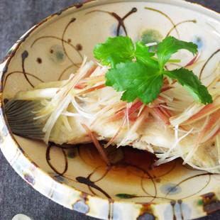 カレイと夏の香味野菜のさっぱり蒸し