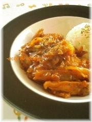 鶏胸肉&キャベツのカレーケチャップ煮の写真