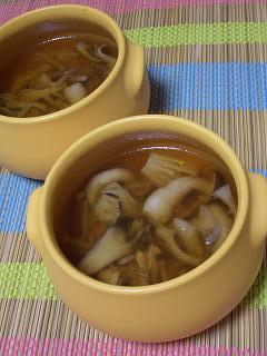寒天とろみで☆きのこたっぷり酸辣湯