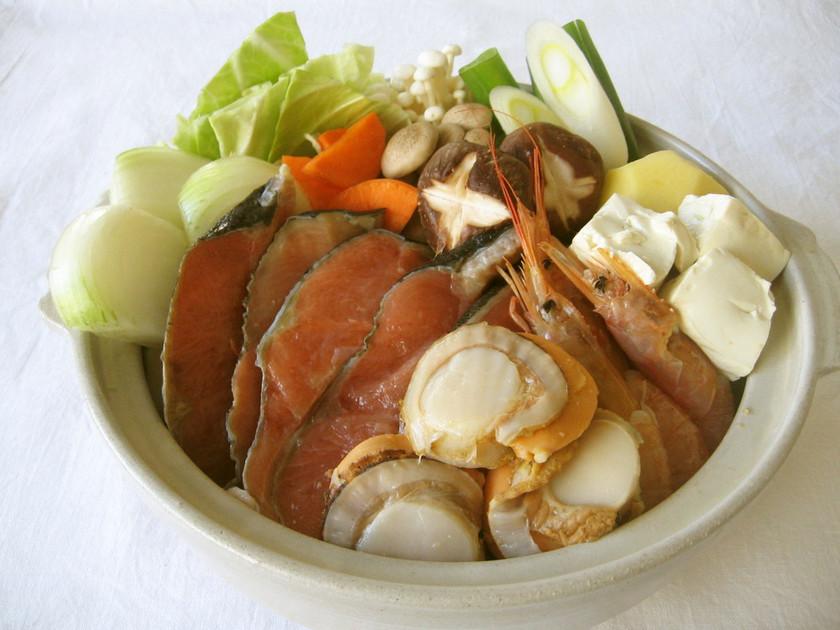 石狩鍋★北海道風秋鮭の味噌鍋★