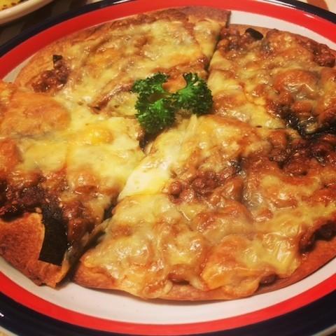 フワフワ♡絶品納豆ピザ