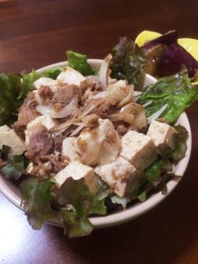 夏のさっぱり豆腐丼