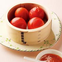 蒸しトマト、梅ソース添え