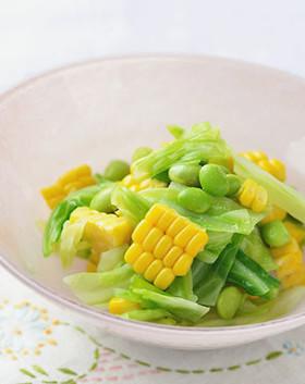 枝豆とうもろこし&キャベツのサラダ漬け