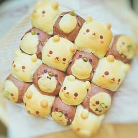 ちぎりパン(ペンギンver.)